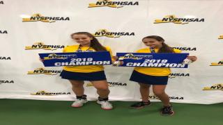 Rachel Arbitman and Nyla Gershfeld are the 2019 NYSPHSAA Girls Doubles Champions.