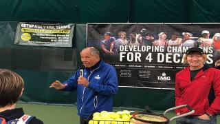Prior to the New York Tennis Expo and the New York Open, the facility hosted this Clinic once again, and were joined by legendary coach and IMG Academy's Nick Bollettieri, Columbia Men's Tennis Associate Head Coach Howie Endelman, former Columbia standout