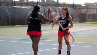 Ruth Abraham and Alex Ho won at first doubles to clinch Syosset's victory over Roslyn on Wednesday.