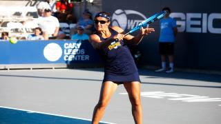 Kirsten Flipkens notched a key win at women's singles to help lead the Empire past the Rollers on Tuesday night.