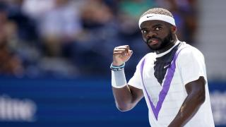American Frances Tiafoe ousted recent French Open finalist and third-seed Stefanos Tsitsipas at Wimbledon on Monday.