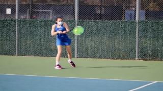 Ellie Ross won at second singles as Port Washington defeated Jericho on Thursday afternoon.