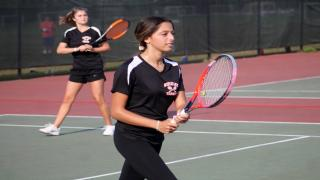 Marcella Kanes and Arielle Rokhsar helped Wheatley win its first match of the year with a third doubles win on Monday.