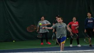 With public schools off last week for spring break, Carefree Racquet Club in North Merrick gave local kids an opportunity to play tennis during their week off.