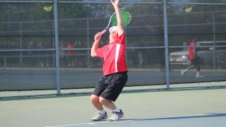 Justin Oresky clinched the Syosset victory with a straight-set win at second singles.