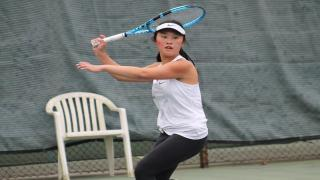 Sarah Wong clinched the Nassau County Championship for Syosset with a win over Nyla Gershfeld at third singles on Monday.