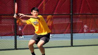 Eddie Liao won at first singles to help guide Commack to the win over Hills West on Thursday afternoon.