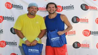 Keith Lopez (left) and Casey Schnabel (right) took home the title in the Men's A Division at the 2020 Long Island Tennis Magazine Challenge.