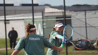 Rose Peruso and Juliet Tomaro came back to win 6-7(3), 6-2, 6-3 to seal their team's 4-3 victory over Commack.