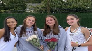 Garden City honored its seniors on Tuesday, and notched a 4-3 victory over Locust Valley.