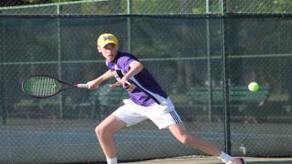 Oyster Bay senior Patrick Maloney captured the Nassau County Singles title at Eisenhower Park on Monday.