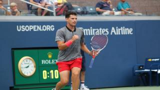 Dominic Thiem is into the U.S. Open quarterfinals for this first time in his career after ousting 2017 runner-up Kevin Anderson in an impressive 7-5, 6-2, 7-6(2) victory on Sunday inside Louis Armstrong Stadium.