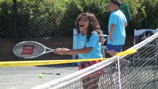 More than 160 kids came out to Crest Hollow Country Club in Woodbury for the first USTA Long Island Region Kids Day of the summer.