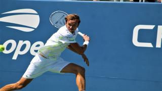 US Open finalist Daniil Medvedev pushed his way into the second round of the Australian Open on Tuesday, beating American Frances Tiafoe 6-3, 4-6, 6-4, 6-2.