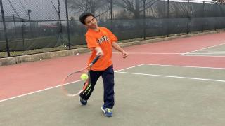 Neeraj Punel won his match at second singles to help lead Hicksville past New Hyde Park.