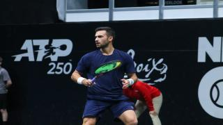 Noah Rubin competes at the New York Open earlier this year.