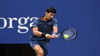 Novak Djokovic won his quarterfinal match against John Millman on Wednesday night.