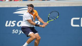 American Jack Sock looked sharp on Court 17 in opening round action at the 2018 U.S. Open on Monday, rolling past Guido Andreozzi, 6-0, 7-6(4), 6-2