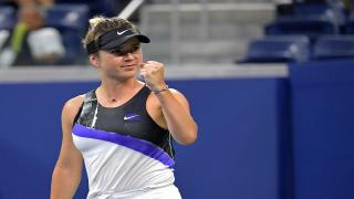 Elina Svitolina became the first player to qualify for the WTA Finals semifinals as she notched a 7-5, 6-3 win over fifth-seed Simona Halep on Wednesday in Shenzhen, China.