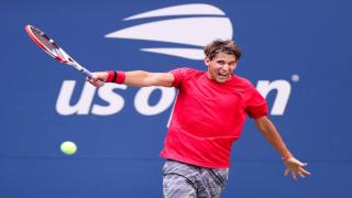 Austria's Dominic Thiem defeated Spain's Rafael Nadal 7-6(7), 7-6(4) at the Nitto ATP Finals in the O2 Arena in London.