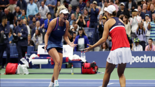 American Coco Vandeweghe and Australia's Ashleigh Barty won their first Grand Slam title as a doubles team by claiming the U.S. Open championship this weekend. The 13th seeded pairing fought back to beat second-seeds Timea Babos and Kristina Mladenovic 3-