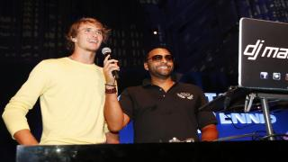 Alexander  Zverev tries his hand at DJing at the 2018 Citi Taste of Tennis.