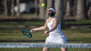 Rose Lindstrom was a winner at second singles as Oyster Bay advanced to the second round of the Nassau County Playoffs.
