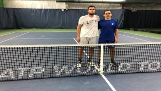 Borna Gojo, left, defeated Quinnton Vega, right, in the New York Open Pre-Qualifying Tournament at SPORTIME Randall's Island.