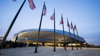 An outside shot at Nassau Coliseum which housed the New York Open for three years.