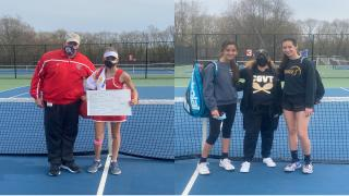 Smithtown East's Anya Konopka defeated Andriana Zaphiris of Hauppauge 6-2, 6-1 to win the singles title; Commack's Emily & Kady Tannenbaum took the doubles crown.