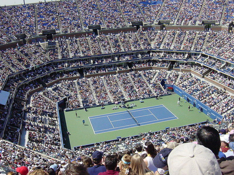 Inside Arthur Ashe Stadium in Flushing Meadow Park, Queens, home of the 2009 U.S. Open Championships